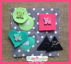 Match the shapes purrrfectly! Baby Quiet Book, Quiet Books, Baby Learning, Book Activities, Shapes, Feelings, Ideas, Thoughts, Kids Learning