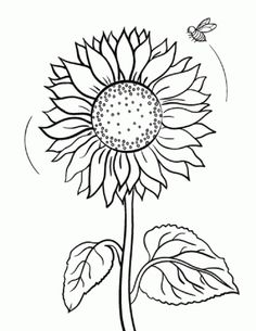 flower Page Printable Coloring Sheets | Sunflower coloring page ...