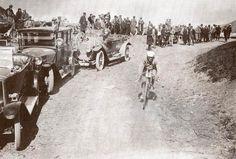 Eugene Christophe in an early Tour de France.