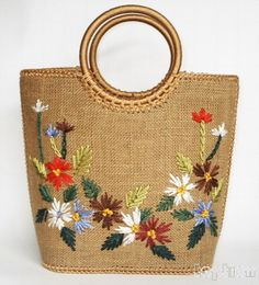 27 Ideas Crochet Bag And Purses Handbags Christmas Gifts Crochet Shell Stitch, Embroidery Bags, Embroidery Designs, In China, Jute Bags, Crochet Handbags, Crochet Bags, Basket Bag, Fabric Bags