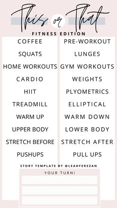 Free Instagram, Instagram Quotes, Instagram Ideas, Lower Body Stretches, About Me Template, Squats And Lunges, Bingo Template, Instagram Questions, Ig Story