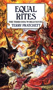 The 3rd Discworld novel and the first to introduce the witches, especially Granny Weatherwax and Nanny Ogg.