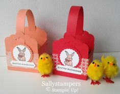 Scalloped Tag Easter Box. These cute Easter Boxes can hold any small treat and Im sure will be gratefully received full of chocolate or as a favour. Independent Stampin Up!®️ Demonstrator UK.