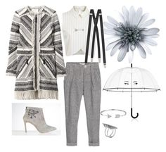 A fashion look from September 2015 featuring high neckline tops, white coat and capri pants. Browse and shop related looks. Rebecca Taylor, Bling Jewelry, Miss Selfridge, Yves Saint Laurent, Mango, Kate Spade, Rain, Grey, Polyvore