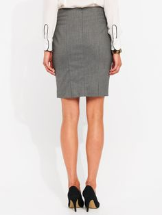 Chanel - This Windowpane Check Skirt is from Portmans Short Skirts, Chanel, Inspired, Check, Leather, Clothes, Shopping, Fashion, Outfits