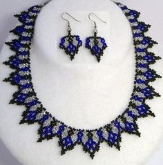 African Net Stitch Beaded Necklace