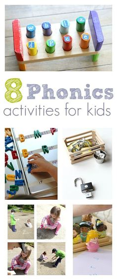 8 Easy Phonics Activities – No Time For Flash Cards Help support your child as the learn to read with these phonics games. Letter sound activities for kids. Phonics For Kids, Teaching Phonics, Preschool Literacy, Alphabet Activities, Early Literacy, Literacy Activities, Preschool Activities, Abc Alphabet, Kindergarten Reading