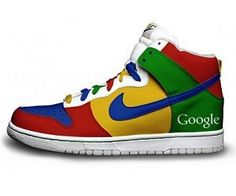 Look fresh to death at the next LAN party and get noticed by all the geeky honeys with these Google Nike Sneakers with G+ technology built in. These Google Sneakers are one of the many amazing custom shoes designed by Daniel Reese, and are a cool gift for geeks.