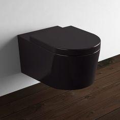 WC suspendu Orba Noir + Abattant