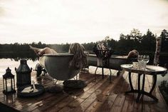 Oh yes, yes, yes. Forget everything else on the Wish List. Glamping it up at the Canvas Hotel in Nissedal, Telemark, Southern Norway - Photo: Colin Eick Design Hotel, Design Shop, Outdoor Spaces, Outdoor Living, Outdoor Decor, Glamping, Outdoor Bathtub, Outdoor Sauna, Outdoor Bathrooms