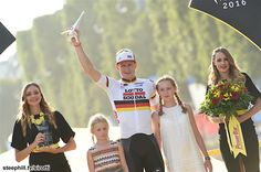 Tour de France 2016 Stage Twenty One- Andre Greipel with his girls.