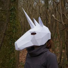 NEED A FANCY DRESS COSTUME? Make your own 3D UNICORN MASK from recycled card with these easy to follow instructions.  I have designed this set of