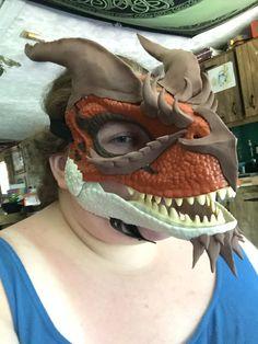 Fursuit Tutorial, Dinosaur Mask, Masks, Tutorials, Wizards, Face Masks