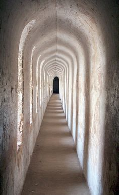 Inside Bara Imam Bara cave, Lucknow, UP, India