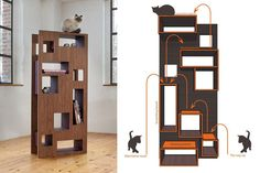 Seven Modern Design Cat Trees (and Two Modern Cat Shelves) #cattower - More about Cat Tower at - Catsincare.com!