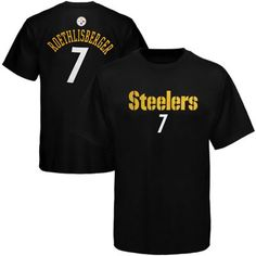 Pittsburgh Steelers Ben Roethlisberger # 7 Youth Player T-Shirt - Black