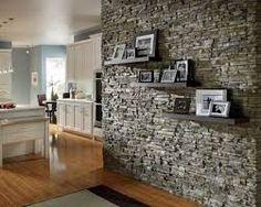 Resultado de imagen para ver decoracion de cocinas con piedras por pinterest Stone Accent Walls, Living Room Wall Designs, Living Walls, Living Room Decor, Living Rooms, Design Firms, Design Design, Design Ideas, Design Styles