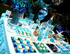 under the sea candy table dessert table
