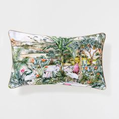 PALM TREE LANDSCAPE PRINT CUSHION - Decorative Pillows - Decor and pillows | Zara Home United States