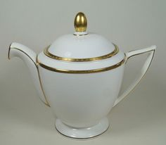 Minton Bone China Golden Heritage Large 1.75 Pint Teapot Tea Pot H.5183