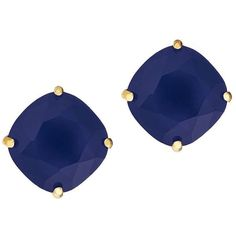 Kate Spade New York Faceted Square Stud Earrings (£29) ❤ liked on Polyvore featuring jewelry, earrings, navy, navy stud earrings, square earrings, faceted earrings, stud earrings and navy blue earrings