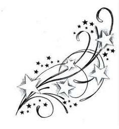Images For Shooting Star Tattoos Designs