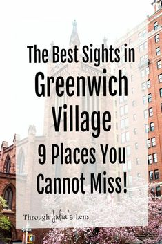 The Best Sights in Greenwich Village: 9 Places You Cannot Miss! - The Best Sights in Greenwich Village: 9 Places You Cannot Miss! Travel Blog, Usa Travel Guide, Travel Usa, Travel Guides, Travel Tips, New York City Vacation, New York City Travel, Paris Travel, Greenwich Village