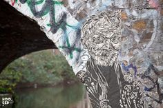 New York street artist Swoon visits London and installs some beautiful hand coloured pasteups in London. London Street, New York Street, Art Sites, Street Artists, Hand Coloring, Beautiful Hands