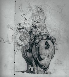 Senhora Rhino by Feral Kid ✤ || CHARACTER DESIGN REFERENCES | キャラクターデザイン • Find more at https://www.facebook.com/CharacterDesignReferences if you're looking for: #lineart #art #character #design #illustration #expressions #best #animation #drawing #archive #library #reference #anatomy #traditional #sketch #artist #pose #settei #gestures #how #to #tutorial #comics #conceptart #modelsheet #cartoon #riding #ride || ✤