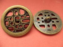 7 METALLKNÖPFE bronze 24mm (5078-8) Knöpfe Metall