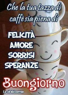 Buongiorno da mandare 1333863 Good Morning Coffee, Good Morning Good Night, Good Day, Italian Memes, Italian Quotes, Italian Greetings, Morning Blessings, Good Mood, Happy Sunday