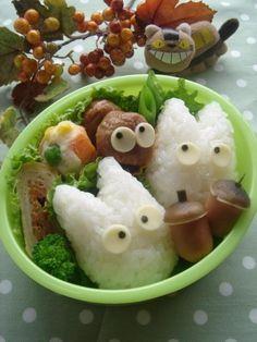 Baby Totoro bento.