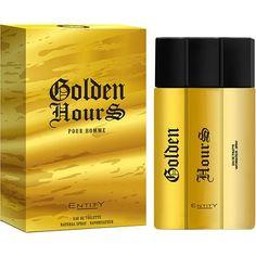 Informações do produto Perfume Golden Hours Men Masculino Eau de Toilette 100ml Entity apresenta seu mais novo perfume, com uma fragrância para os homens sedutores e modernos. As notas de cabeça do perfume frescor do pomelo, da menta picante e...