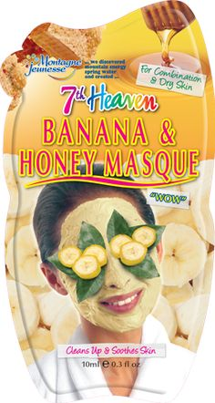 Face Mask || Banana & Honey Exfolianting Masque- Cleans Up & Soothes Skin (for combination & dry skin)