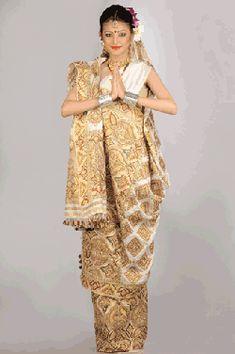 Traditiona Assam Pat Silk Saree