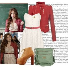 Designer Clothes, Shoes & Bags for Women Teen Wolf Fashion, Teen Wolf Outfits, Fashion Tv, Teen Fashion Outfits, New Outfits, Cool Outfits, Lydia Martin Style, Lydia Martin Outfits, Cute Skirt Outfits