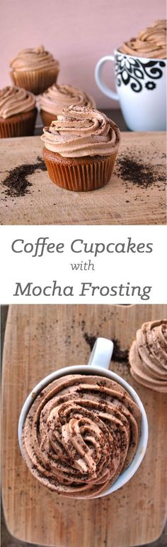 Moist coffee cupcakes with a mocha buttercream frosting is the only way to start…
