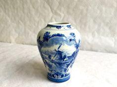 Vase Royal Delft Porceleyne Fles par RetroVase sur Etsy