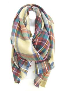 Holiday Blanket Scarf #accessories #scarves