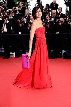 Madame Ines de la Fressange dared and pulled off red on the Cannes 2013