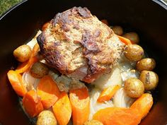 Adapted from this Southern online recipe , this one pot dutch oven roasted meal will have you whistling Dixie when it's time to serv...