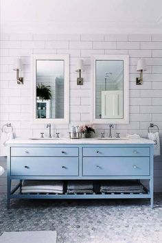 baby blue vanity (with lots of storage)