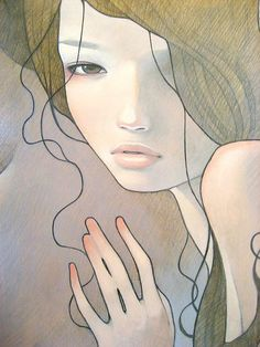 artist Audrey Kawasaki. love the hair