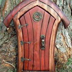 Fairy Door by marleis  - once I retire I think I really need to be agrandmother!! just adorable! Now to find some parents to create these to kids designs :)