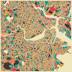 De Paris à Los Angeles en passant par Jerusalem, Milan, New York ou encore Londres, Boston et San Francisco, une jolie série de cartes stylisées des grandes