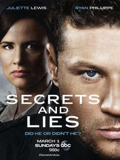 Secrets and Lies, the highly anticipated new murder mystery drama, premieres SUNDAY, MARCH 1 9|8c on ABC. Here's a first look at the poster for the gripping new drama.  Older version from Australia on Netflix you can watch now, then  compare which one was better