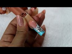 Nail art tutorial - 3D Vintage design with chrome mirror powder/pigment ( chrome effect nails ) - YouTube