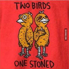 Funny pictures about Two birds. Oh, and cool pics about Two birds. Also, Two birds. Two Birds One Stone, Weed Humor, Stoner Humor, Weed Puns, Marijuana Funny, Stoner Art, Weed Art, Puff And Pass, Funny Wallpapers
