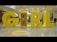 Pharrell Williams' Interactive G I R L Installation--a bit of social engineeering.but interesting Exhibition Booth Design, Exhibition Display, Visual Display, Display Design, Environmental Graphics, Environmental Design, Stage Design, Event Design, Entrance Signage