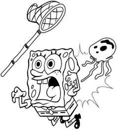 Your Kids Love Together With 25 Pokemon Coloring Pages Advance See More Jelly Fish Attacking Sponge Bob
